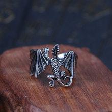 Bague Vintage Punk Dragon maléfique pour moto, anneau de motard Cool pour hommes et femmes, accessoires de bijoux
