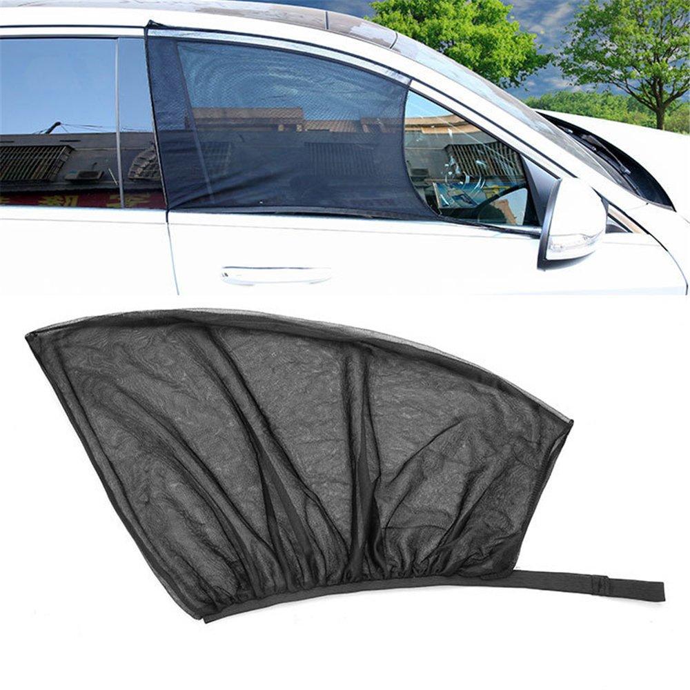 2 Pcs Universal Car Front Door Side Window Sun Shade Summer UV Protection Sunshades Net Mesh Car Curtain For SUV MPV Sedan