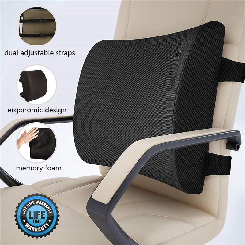 3D Memory Foam Car And Office Lumbar Pillow To Relieve Low Waist Pain 8
