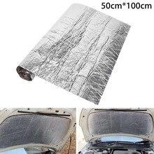 5 мм/10 мм автомобиль шумоизоляция коврик Шум изоляция капота капот брандмауэр тепла Алюминий пены Стикеры звук Термальность сшитого полиэтилена