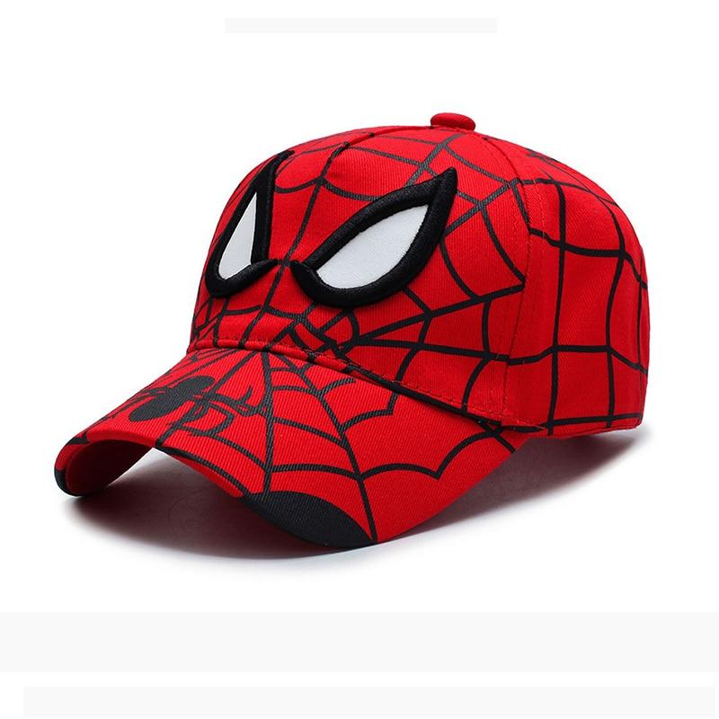 2020 Newest Movie Spiderman Children Embroidery Cotton Baseball Cap Kids Boy Girl Hip Hop Hat Spiderman Cosplay Hats