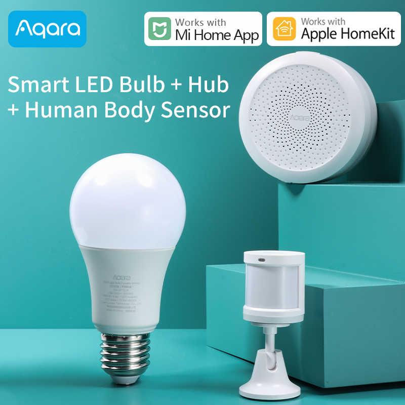 Aqara ampul Xiaomi Mijia akıllı ev lamba kiti ayarlanabilir renk sıcaklığı ışık zigbee bağlantı Aqara hub ile çalışmak Homekit