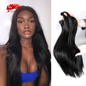 Hair-Weft Bundle Weave Raw Human-Hair Ali-Queen One-Donor Natural-Color Double-Drawn