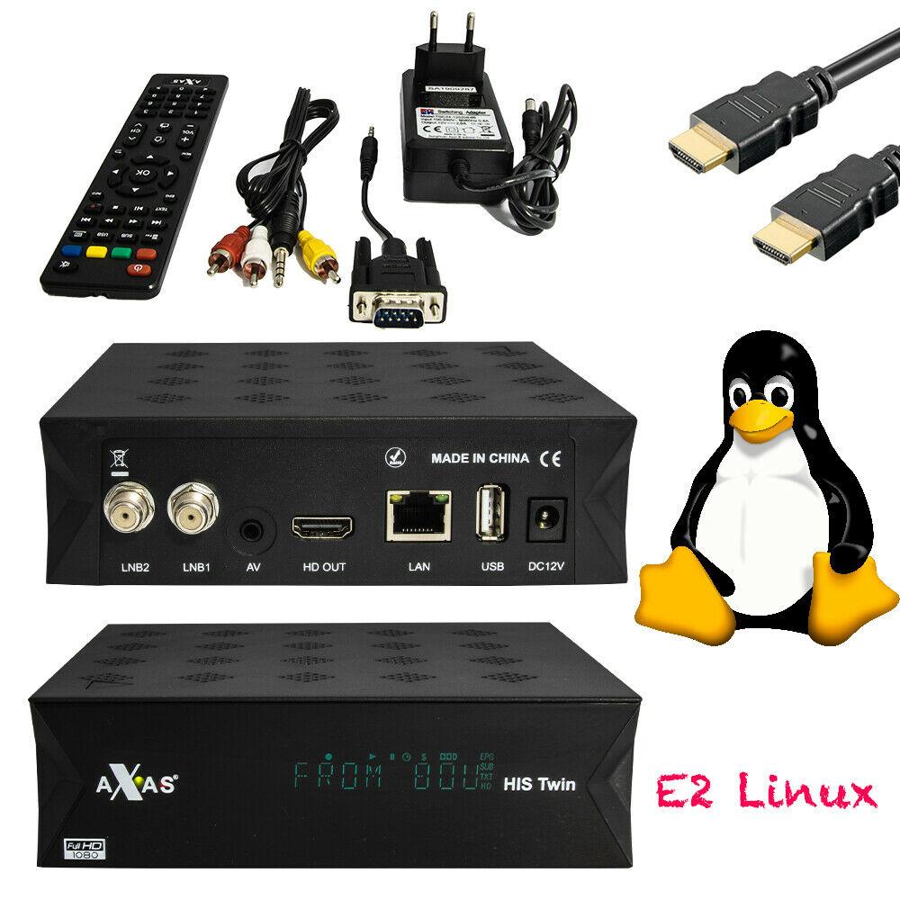 Axas His Twin DVB-S2/S HD Satellite TV Receiver WiFi + Linux E2 Open ATV 6.2 TV Box