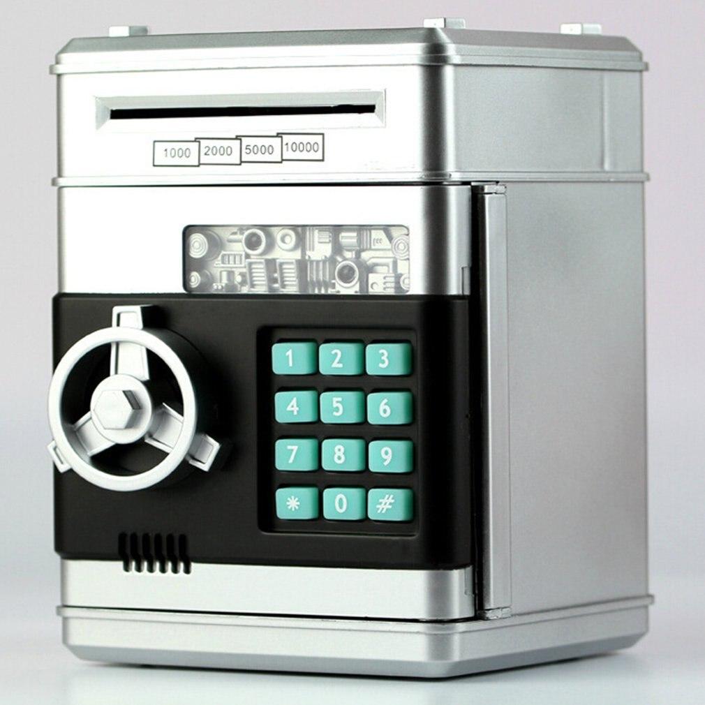Electronic Piggy Bank ATM Password Money Box Cash Coins Saving Box ATM Bank Safe Box Automatic Deposit Banknote Christmas Gift