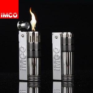 Зажигалка IMCO Flint в стиле ретро, Без керосина, для бензиновых сигарет, гаджеты для масла, нержавеющая сталь