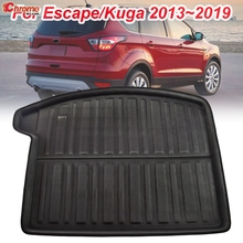 Car Accessories For Ford Escape Kuga 2013 2014 2015 2016 2017 2018 Boot Mat Rear Trunk Cargo Liner Floor Tray Carpet Protector