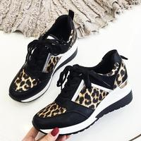 2019 Leopard Sneakers Woman New Platform Shoes Women Stylish Thick Sole Sports Fashion Styles Light Weight Size 36 41