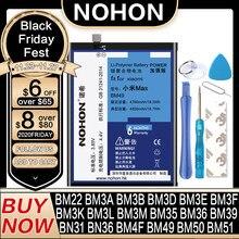 Аккумулятор NOHON для Xiaomi Mi Mix Max 2 3 4C 5 5S 6 8 Lite Pro 9 SE CC9 4 5X BM22 BM3L BM36 BM39 BM3E BM3B BM49 BM50 BN31