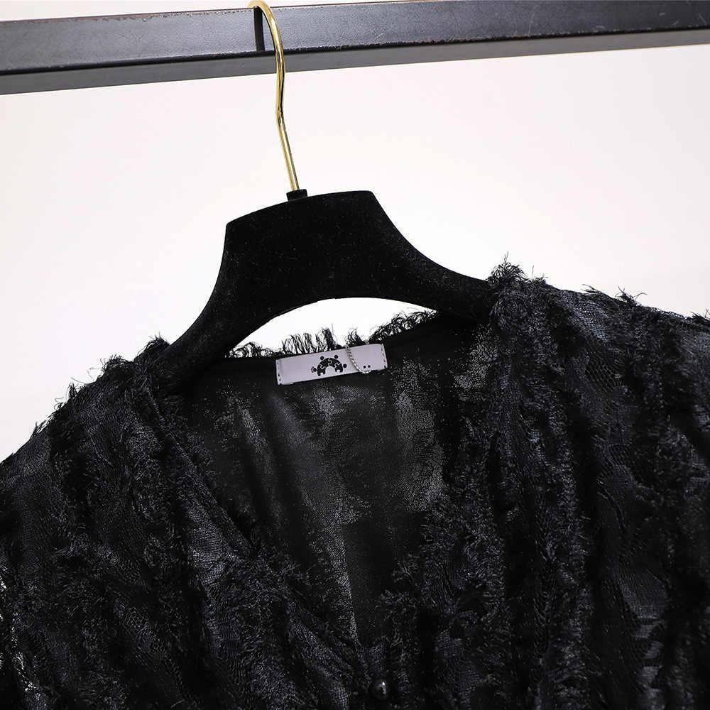 2019 herbst winter plus größe lange kleid für frauen große dünne beiläufige elastische taille spitze gefaltetes kleider weiß 3XL 4XL 5XL 6XL 7XL