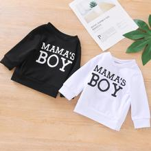 Sweatshirts Baby Spring Casual Letter Tops Long-Sleeve Round-Neck Autumn Boys Solid-Color