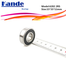 Kande 6202RS 4PCS ABEC-5 6202 2RS Single Row Deep Groove Ball Bearing 15x35x11 mm 6202RZ Suitable for Agricultural Machines