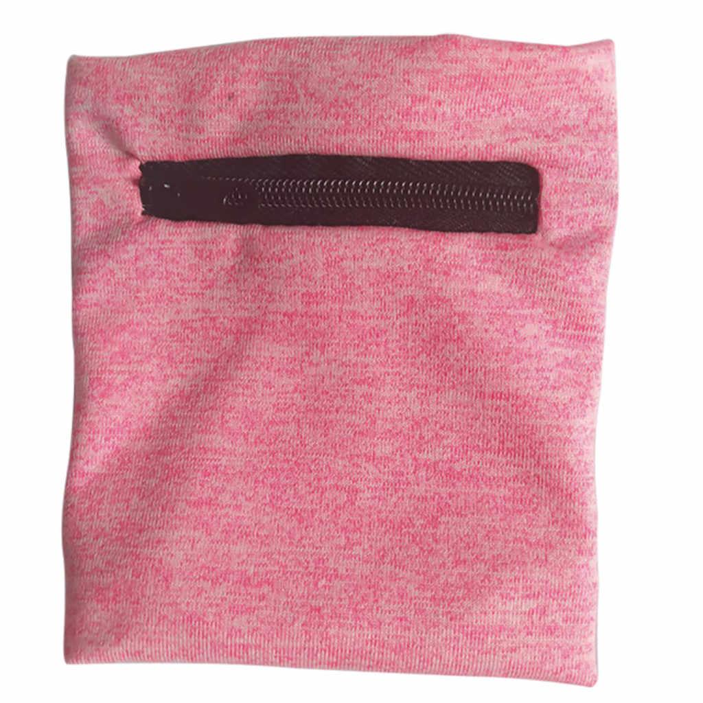 Correa de muñeca de tobillo transpirable absorbente multifuncional correa de muñeca con cremallera para el tobillo correa de muñeca deportiva Almacenamiento de cartera
