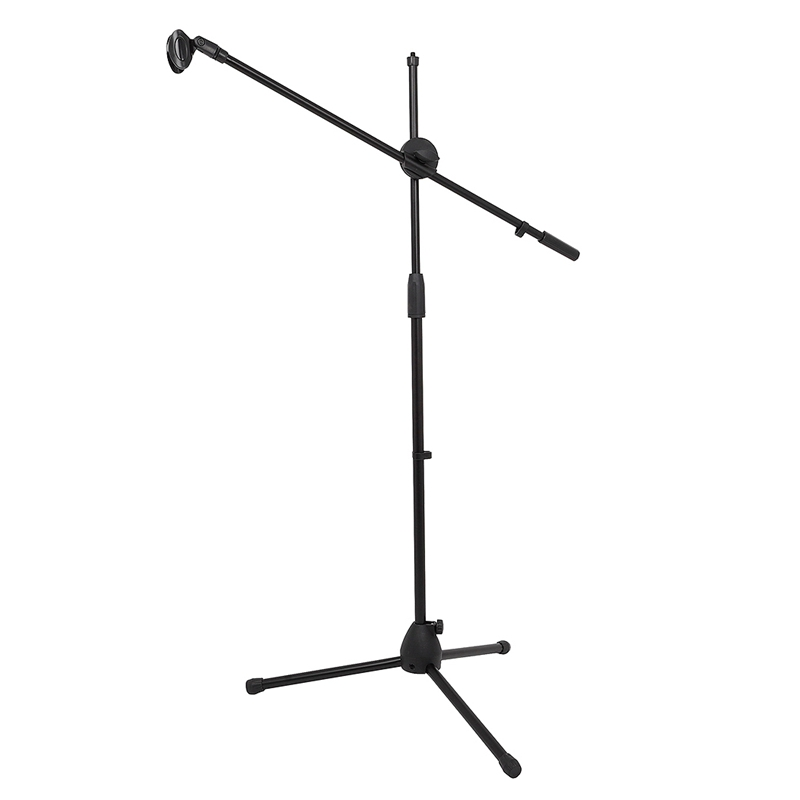 Swing Boom Floor Microphone Tripod Floor Stand Adjustable Microphone Clip Holder Detachable Stage Microphone Stand