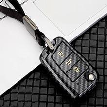 ABS Carbon fiber car key case For VW Golf Bora Jetta POLO GOLF 7MK7 Passat Skoda Octavia Combi A7 A5 Fabia SEAT Ibiza Leon CUPTR