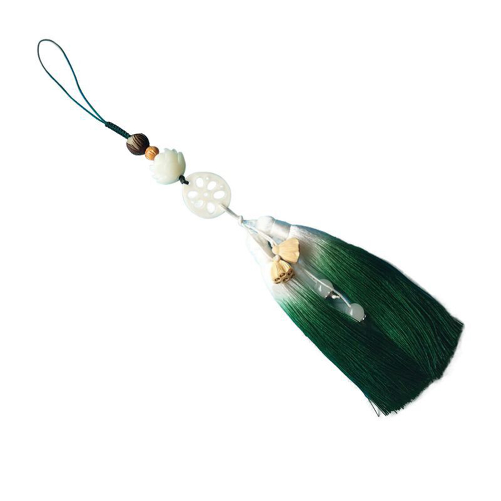 Mo Dao Zu Shi Tassel Pendant Props Cosplay Keychain Pendant Handbag Key Ring Gifts Chen Qingling Bodhi Lotus Tassel Pendants O14