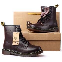 39 46 męskie buty marki 2019 modne wygodne buty skórzane # NX1460 w Podstawowe buty od Buty na