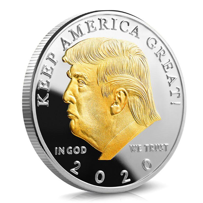 Дональд Дж. Трамп президент США памятный значок тиснением сувенир с покрытием коллекция монет подарок на Новый год