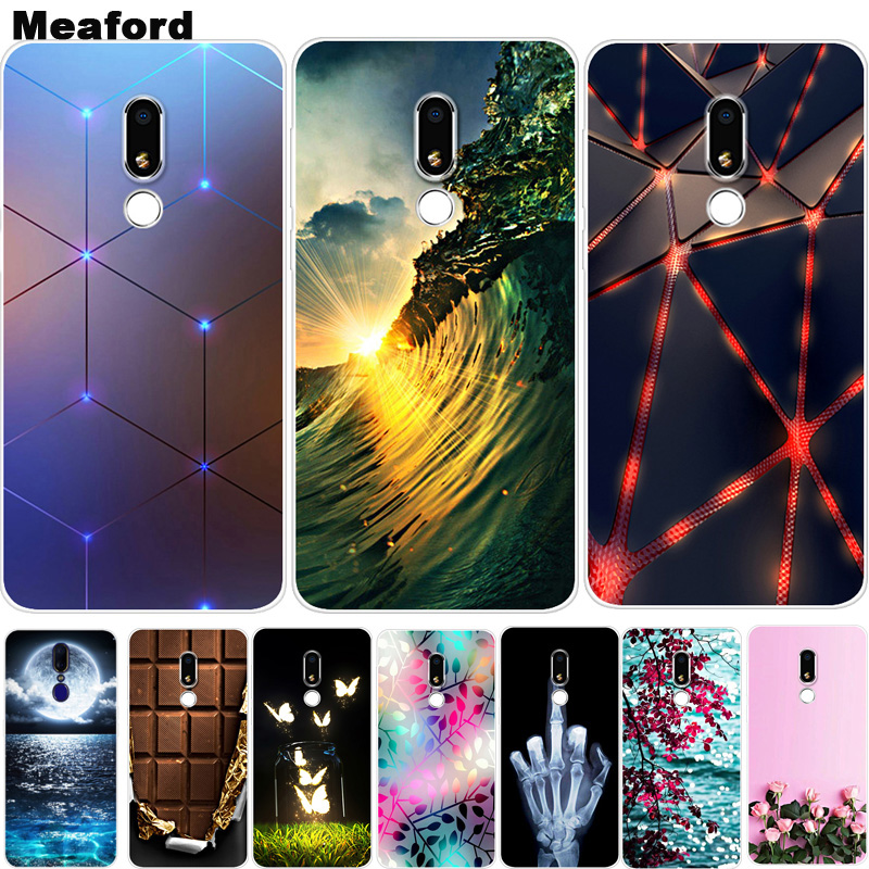 For Meizu M8 Lite M 8 Case Phone Cover Soft Silicone Cartoon Printing Back Case Coque For Meizu M8 Lite 5.7