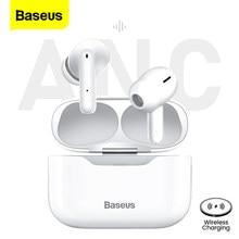 Baseus S1 TWS Bluetooth 5.1 True Wireless écouteur casque ANC actif suppression de bruit stéréo écouteurs mains libres pour iPhone 12