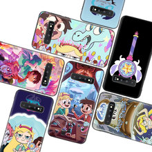 Star vs the Forces of Evil Black Case for Samsung Galaxy S10 Lite Note 10 9 8 S9 S8 J4 J6 J8 + Plus S7 S6 Silicone Phone Case(China)