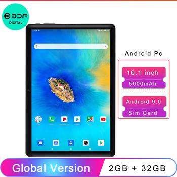 BDF 10 1 Cal tablety Android 9 0 OS 4G telefon komórkowy 2GB RAM 32GB ROM 1280 × 800 GPS 5000mAh bateria ai-przyspieszenie tanie i dobre opinie 10 1 CN (pochodzenie) ultra cienkie Z dwiema kamerami Gniazdo słuchawkowe Karty tf TYPE-C Ramię Rohs english Rosyjski