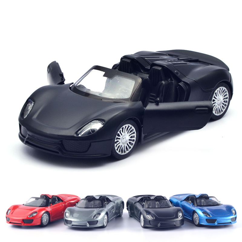 1/32 Toy Racing Car Alloy Iron Shell Porsche918 Model Inertia Sliding Rail Car Mini Small Gift Toys For Children Boys