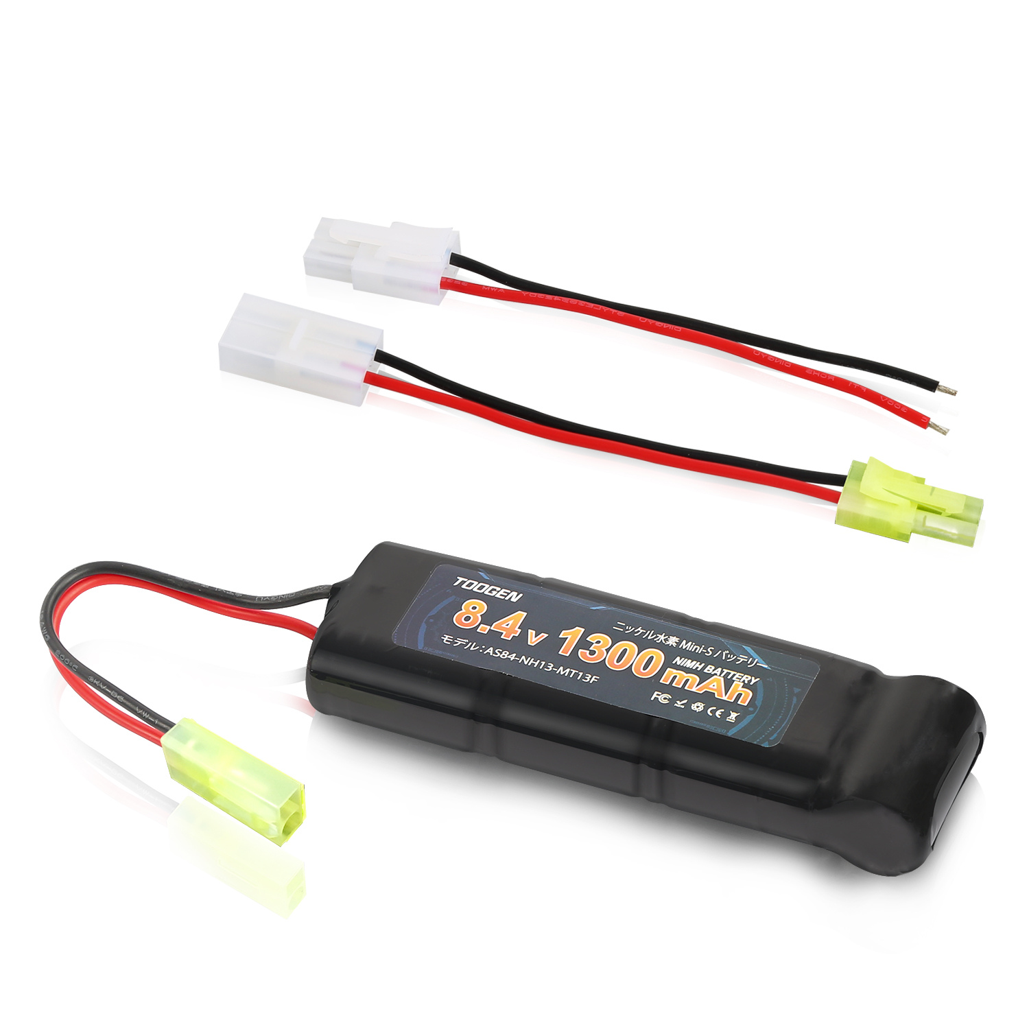NiMH Mini S Battery 8.4V 1300mAh Large Capacity Ni-MH Rechargeable Batteries Compatible With For RC Car Truck Buggy Boat Power image