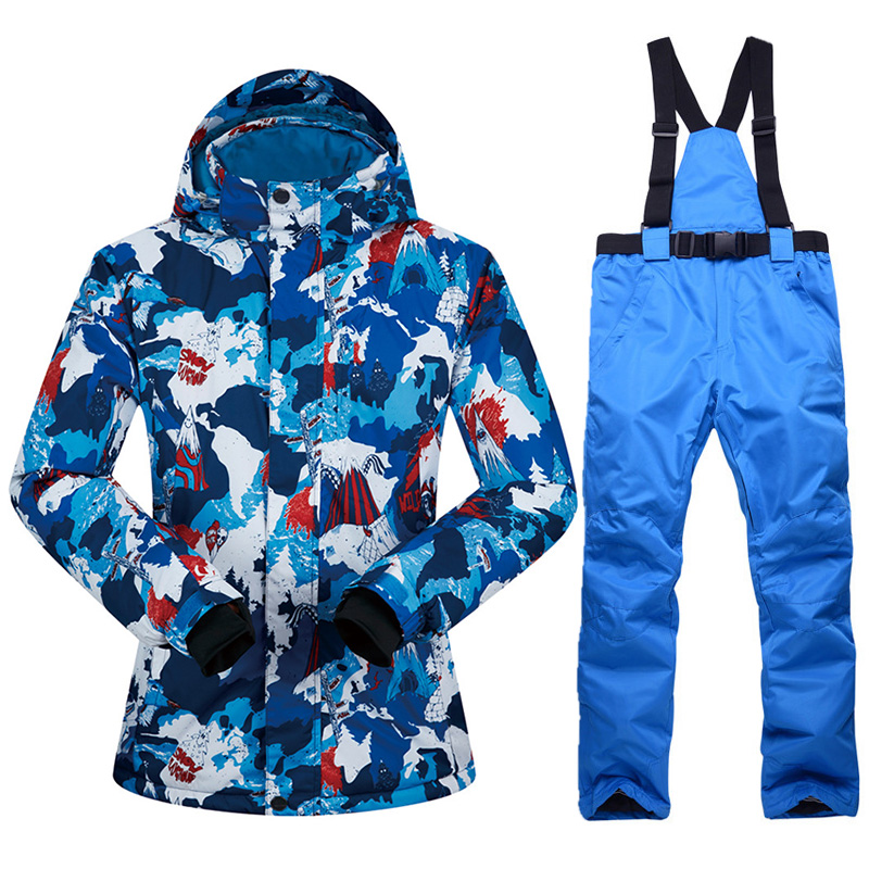 Ski Suit Women Winter New Outdoor Windproof Waterproof Thermal Snow Jacket And Pants Clothes Skiing And Snowboarding Suits Brand
