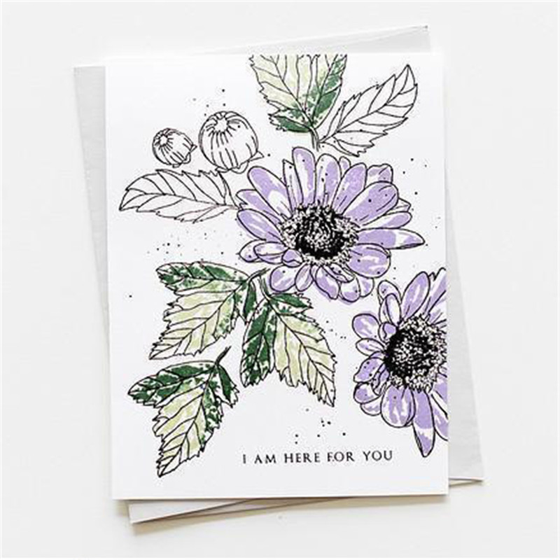 2019 Good Morning Magnolia no.2 flower Clear Stamp and Dies for Scrapbooking Car