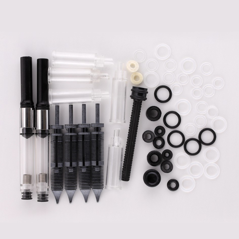 PENBBS Fountain Pen Accessory Converter Set Or Converter Feed Seal Ring Pen Feed House Replacement Nibs Piston Barrel Set Part