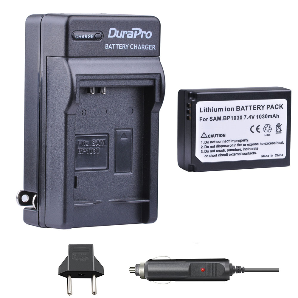 1pc 1030mAH BP-1030 BP 1030 Rechargeable Camera Battery + Car <font><b>Charger</b></font> For <font><b>Samsung</b></font> NX200 NX210 NX300 NX500 <font><b>NX1000</b></font> NX1100 NX-300M image