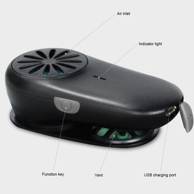 Rechargeable Smart Mini Facial Fan Ventilation Protection For Masks