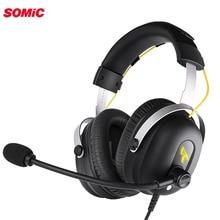 Somic G936PRO Stereo Gaming Headset 7.1 Virtual Surround Game Koptelefoon Hoofdtelefoon Met Microfoon Led Licht Voor Pc Computer Laptop Gamer
