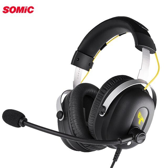 Somic G936PRO Stereo oyun kulaklığıı 7.1 sanal Surround oyun kulaklık mikrofonlu kulaklık LED ışık için PC bilgisayar dizüstü oyun