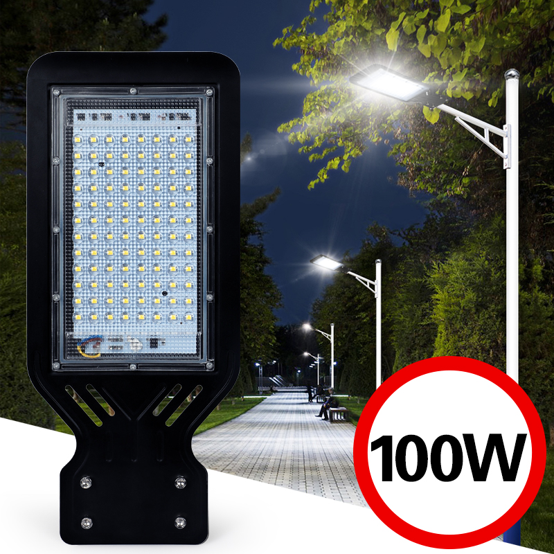 Outdoor Street Light Wall Waterproof IP65 100W  Industrial Garden Square Highway thin LED Road lamp modern lighting AC 110V 220V
