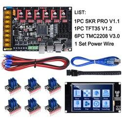 BIGTREETECH SKR PRO V1.1 32 бит плата управления + TFT35 сенсорный экран + TMC2130 SPI TMC2208 TMC2209 части 3d принтера vs V1.3 MKS GEN L