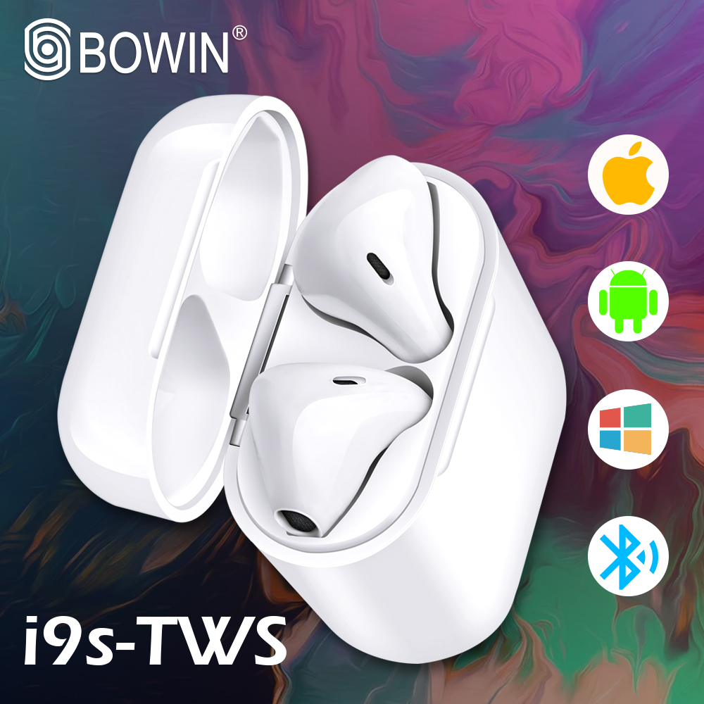BOWIN New i9S TWS Mini <font><b>5.0</b></font> wireless headset <font><b>Bluetooth</b></font> headsetTrue wireless stereo headset invisible earbuds for all <font><b>smartphones</b></font> image