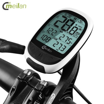 Meilan M2 Cycling Wireless Stopwatch GPS Bike Computer Bluetooth ANT+ Bicycle Speedometer MTB Cadence Sensor Heart Rate Monitor igs50e 40 hours long battery life gps sport bike gps bicycle gps bike computer workable with speed cadence heart rate