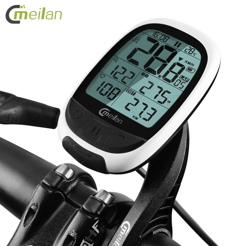 Meilan M2 Cycling Wireless Stopwatch <font><b>GPS</b></font> <font><b>Bike</b></font> <font><b>Computer</b></font> Bluetooth ANT+ Bicycle Speedometer MTB Cadence Sensor Heart Rate Monitor image