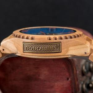 Image 4 - Relogio Masculino BOBO kuş ahşap İzle erkekler lüks marka otomatik kol saatleri Groomsmen hediye reloj hombre OEM Dropshipping