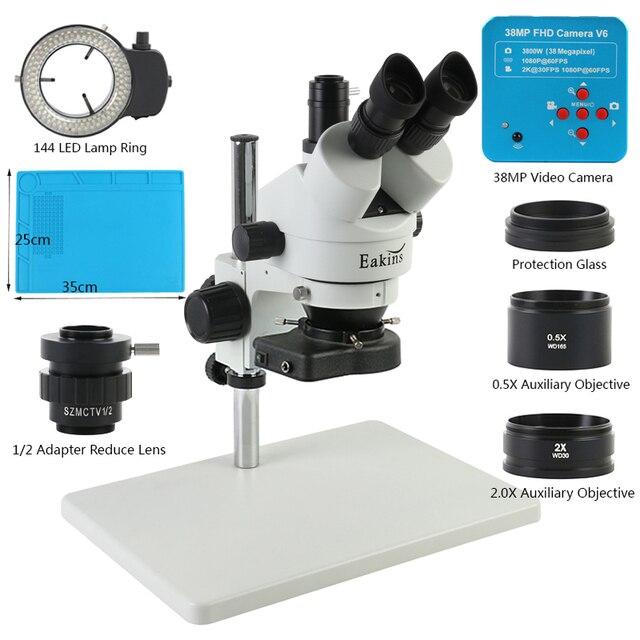 38MP 2K USB HDMI Digital Video Kamera 3,5 X 90X Simul Brenn Trinocular Stereo Mikroskop Für Telefon Löten PCB reparatur Werkzeug