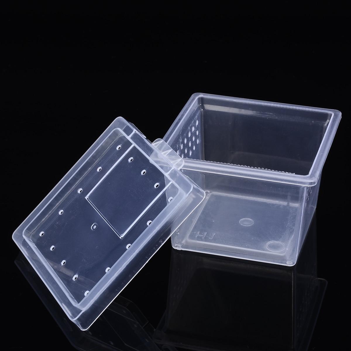 6,8*4,5*5,5 см прозрачный ящик для корма паука, пластиковый ящик для насекомых, рептилий, контейнер для выращивания скорпиона, террариума, среды обитания