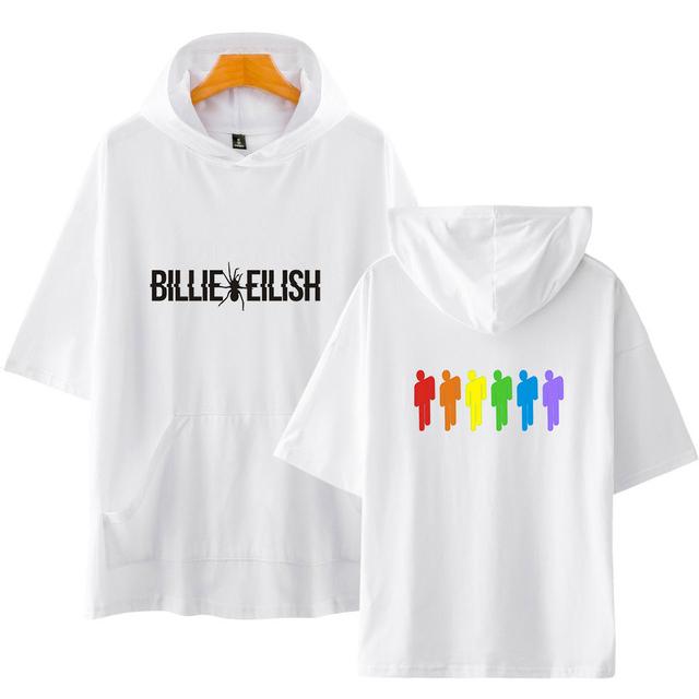 BILLIE EILISH SHORT SLEEVE HOODIE (5 VARIAN)