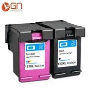 GN 123 Refilled Black ink Cartridge for hp 123 XL 123XL for Deskjet 1110 2130 2132 2133 2134 3630 3632 3637 3638 printer|Ink Cartridges|   -