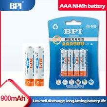 4 шт., аккумуляторные батарейки BPI 1,2 в AAA 900 мАч