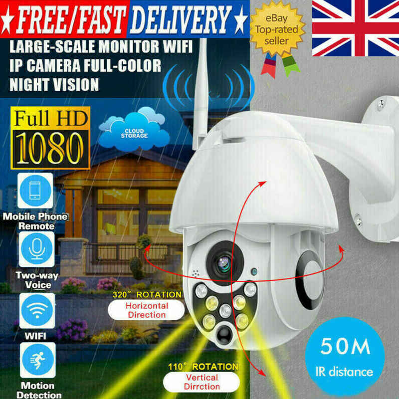 Uk 1080p Hd Wifi Ip Camera White Wireless Outdoor Cctv Home Security Ir Cam 2mp Aliexpress