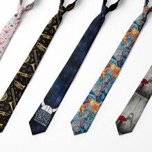 Tie For Men 8cm Funny Mens Fashion Harajuku Printed Neckties Designers Gravata Bow Tie Mens Wedding Dress Ties Shirt Accessories