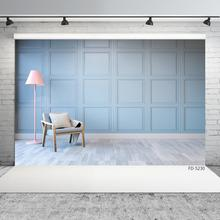 Grid Square Wall Floor Lamp Chair Photo Background Custom Photography Backdrop for Baby Children Home Portrait Photocall Props