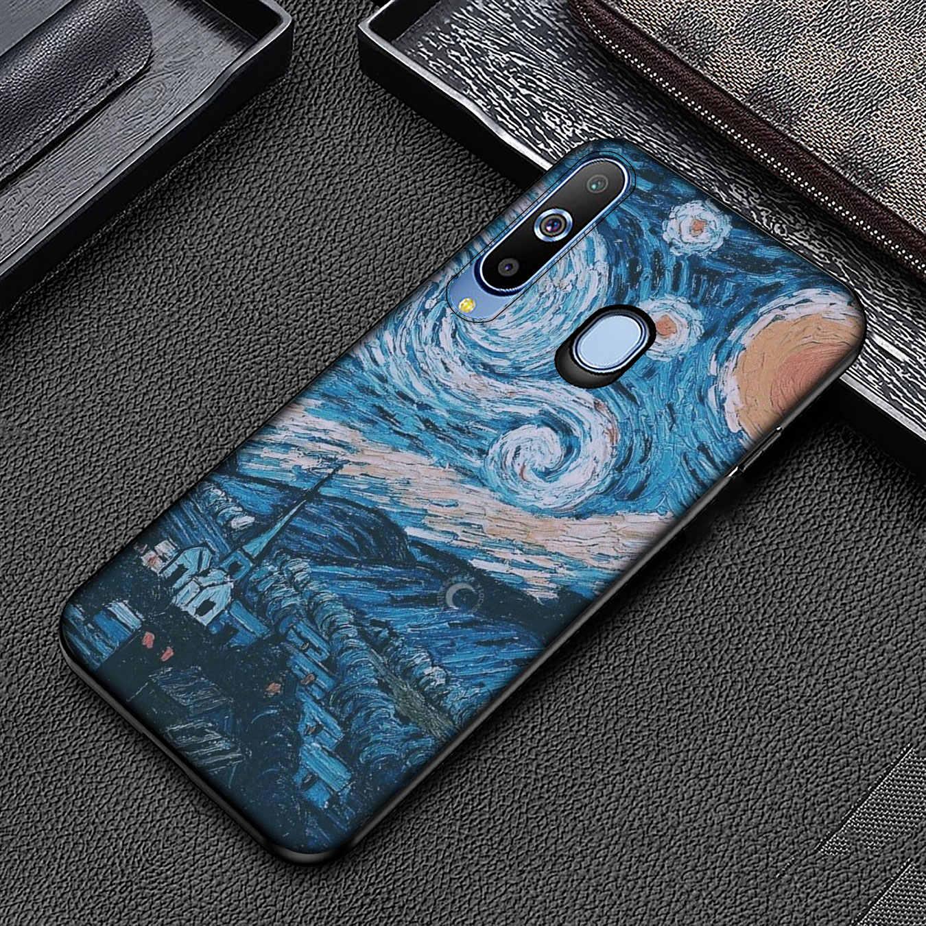 Vintage David Art miękkiego silikonu etui na telefony do Samsung Galaxy A6 Plus A9 A8 A7 2018 A3 A5 2016 2017 uwaga 9 8 10 okładka